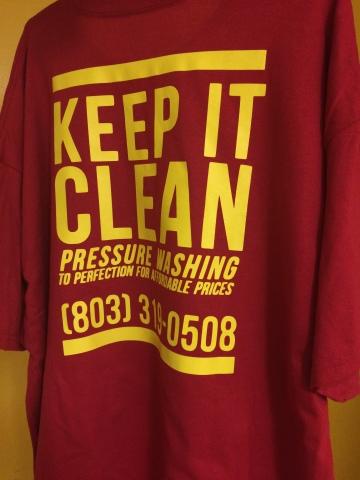 T-shirt Design for Keep It Clean Pressurewashing